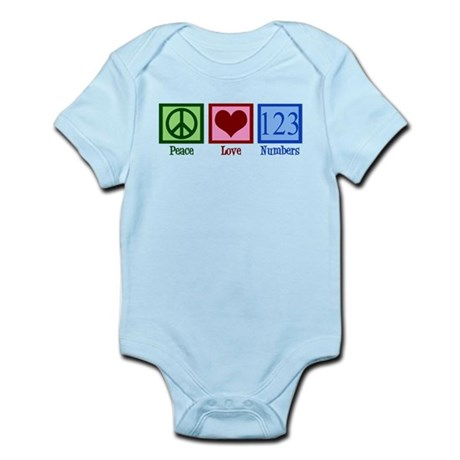 Peace Love Numbers Infant Bodysuit
