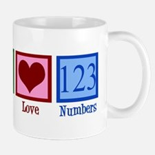 Peace Love Numbers Mug