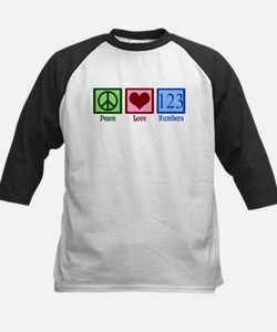 Peace Love Numbers Kids Baseball Jersey