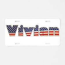 American Vivian Aluminum License Plate