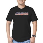 American Angela Men's Fitted T-Shirt (dark)