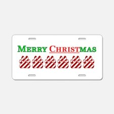 Merry Christmas With Peppermi Aluminum License Pla