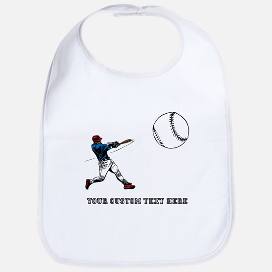 Baseball Player with Custom Text Bib