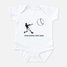 Baseball Player with Custom Text Infant Bodysuit