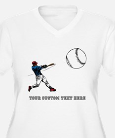 Baseball Player with Custom Text T-Shirt
