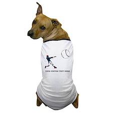 Baseball Player with Custom Text Dog T-Shirt