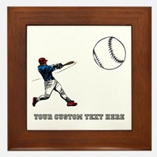 Baseball Player with Custom Text Framed Tile