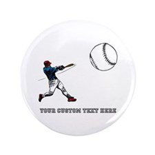 "Baseball Player with Custom Text 3.5"" Button"