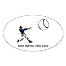 Baseball Player with Custom Text Decal