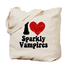 I Love Sparkly Vampires Tote Bag