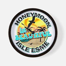Honeymoon in Beautiful Isle Esme Wall Clock