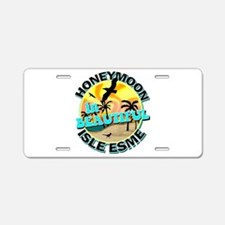 Honeymoon in Beautiful Isle Esme Aluminum License
