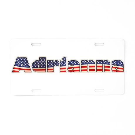 American Adrianna Aluminum License Plate