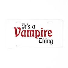 Vampire Thing Aluminum License Plate