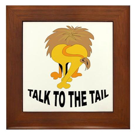 Talk To The Tail Lion Framed Tile