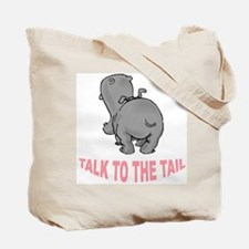 Talk To The Tail Lion Tote Bag