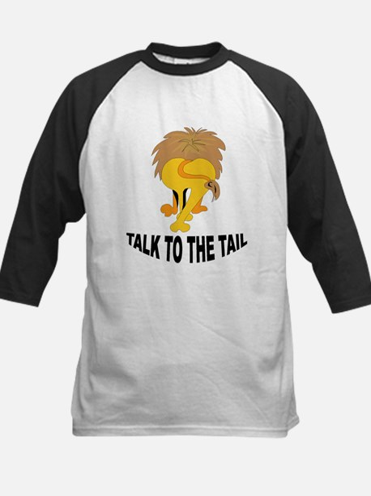 Talk To The Tail Lion Kids Baseball Jersey