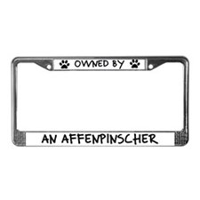 Owned by an Affenpinscher License Plate Frame