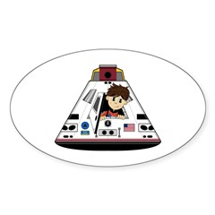 Astronaut and Space Capsule Sticker (10 Pk)