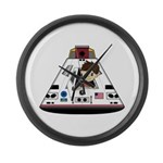 Astronaut and Space Capsule Large Wall Clock
