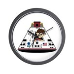 Astronaut and Space Capsule Wall Clock