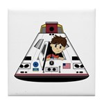 Astronaut and Space Capsule Tile Coaster