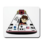 Astronaut and Space Capsule Mousepad