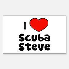I Love Scuba Steve Sticker (Rectangle)