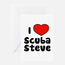 I Love Scuba Steve Greeting Card