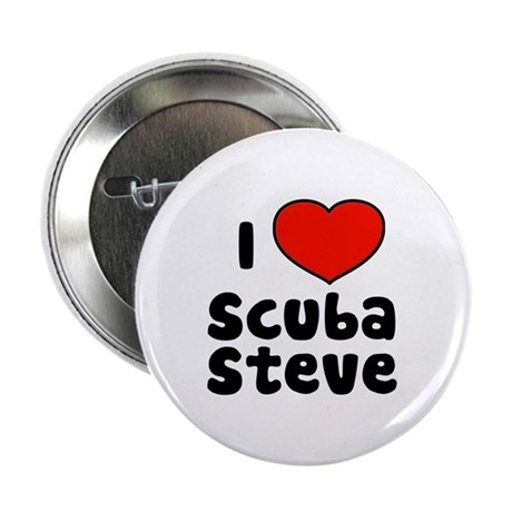 "I Love Scuba Steve 2.25"" Button (10 pack)"