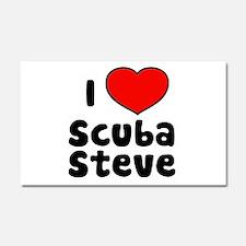 I Love Scuba Steve Car Magnet 20 x 12