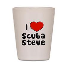 I Love Scuba Steve Shot Glass