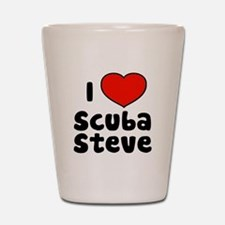 I Love Scuba Steve Shot Glass