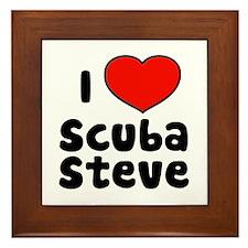 I Love Scuba Steve Framed Tile