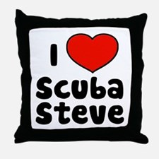 I Love Scuba Steve Throw Pillow