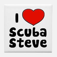 I Love Scuba Steve Tile Coaster