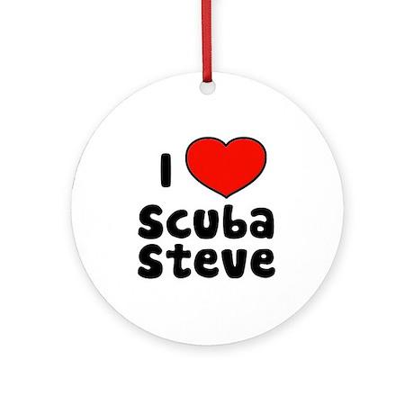 I Love Scuba Steve Ornament (Round)