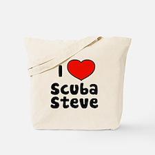 I Love Scuba Steve Tote Bag