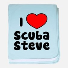 I Love Scuba Steve baby blanket