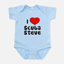 I Love Scuba Steve Infant Bodysuit