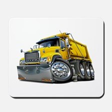 Mack Dump Truck Yellow Mousepad