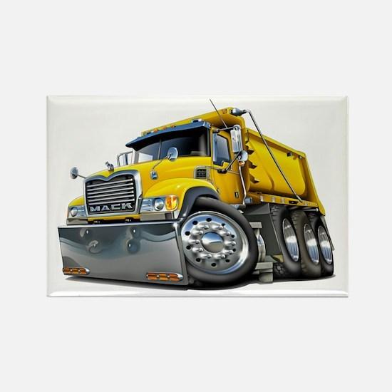 Mack Dump Truck Yellow Rectangle Magnet