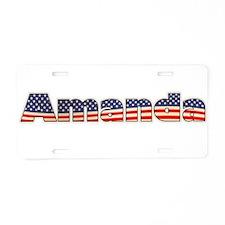 American Amanda Aluminum License Plate