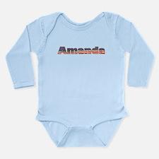 American Amanda Long Sleeve Infant Bodysuit