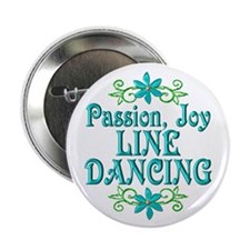 """Line Dancing Joy 2.25"""" Button (10 pack)"""