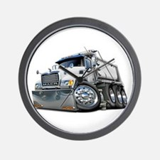 Mack Dump Truck White Wall Clock