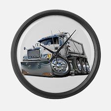 Mack Dump Truck White Large Wall Clock
