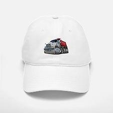 Mack Dump Truck White-Red Baseball Baseball Cap