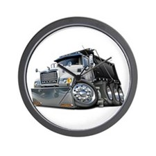 Mack Dump Truck White-Black Wall Clock