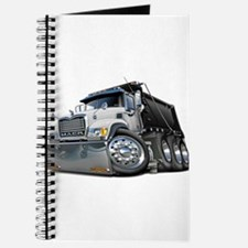 Mack Dump Truck White-Black Journal